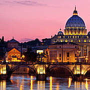 Vatican Twilight Art Print by Brian Jannsen