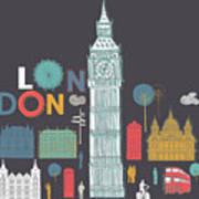 Vector London Symbols Art Print