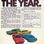 Vega - Car Of The Year 1971 Art Print