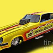 Vega Funny Car Art Print
