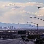Vegas Cityscape Art Print