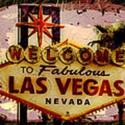 Vegas Destructed Art Print