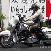 Vegas Motorcycle Cop Art Print