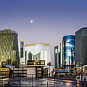 Vegas Night Skyline Art Print