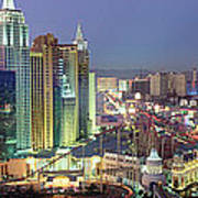 Vegas Skyline Art Print