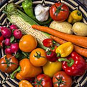 Vegetable Basket    Art Print