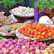 Vegetable Vendor - Omkareshwar India Art Print