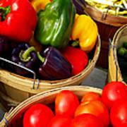 Vegetarian And Organic Farmers Produce Art Print