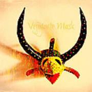 Vejigante Mask Print by Lilliana Mendez