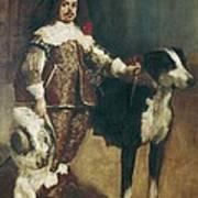Velazquez, Pupil Of 17th Century. Court Art Print
