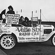 Velie Six Radio Car Art Print
