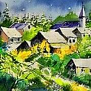 Vencimont Watercolor  Art Print