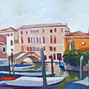 Venetian Cityscape Art Print by Filip Mihail