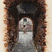 Venetian Courtyard 01 Elena Yakubovich Art Print