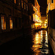 Venetian Golden Glow Art Print