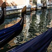 Venetian Gondolas Art Print