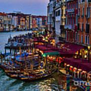 Venetian Grand Canal At Dusk Art Print