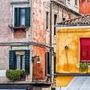 Venetian Houses. Italy Art Print