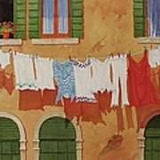Venetian Washday Art Print
