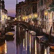Venezia Al Crepuscolo Art Print