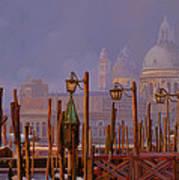 Venezia E La Nebbia Art Print