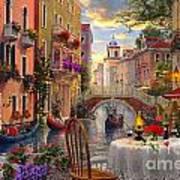 Venice Al Fresco Art Print by Dominic Davison