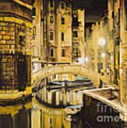 Venice At Night Art Print