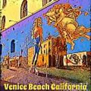 Venice Beach Posterized Art Print
