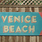 Venice Beach Sign Art Print
