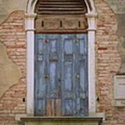 Venice Blue Arched Window Art Print