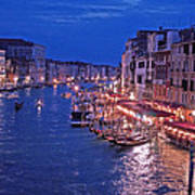 Venice - Canale Grande By Night Art Print