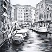 Venice City Of Love Art Print
