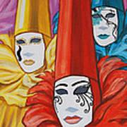Venice Costumes Art Print