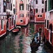 Venice Gondola Ride Print by Janet King