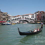 Venice Gondolier Art Print