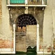 Venice Italy Boat Room Shutters Art Print
