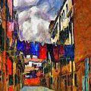 Venice Laundry 2 Art Print by Cary Shapiro