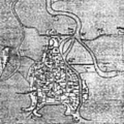 Venice: Map, 12th Century Art Print