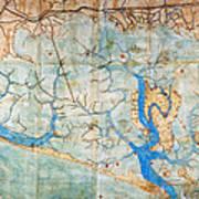 Venice: Map, 1546 Art Print