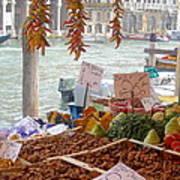 Venice Market Art Print