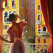 Venice Morning. Art Print