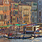 Venice Palazzi At Sundown Art Print