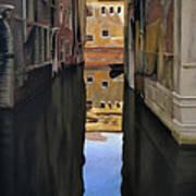 Venice Reflections - Pastel  Art Print