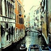 Venice Street Scene Art Print