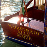 Venice Water Authority Boat Art Print