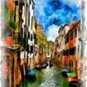 Venice Watercolor Art Print