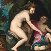 Venus And Adonis Art Print