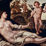 Venus And Amor Art Print