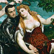 Venus Mars And Cupid Crowned By Victory Art Print
