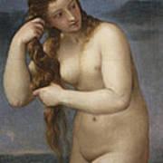 Venus Rising From The Sea Art Print